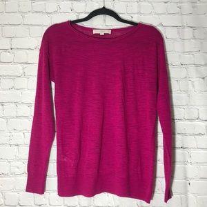 ♣️ Loft Fuschia Knit Top XS